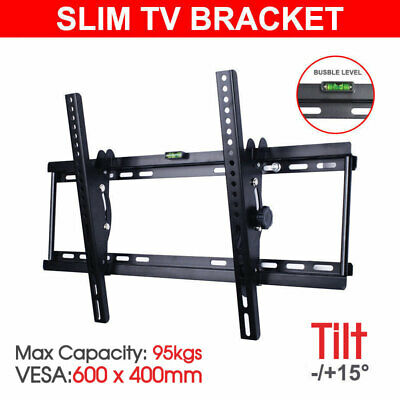 Tilt LCD LED Flat Plasma TV Wall Mount Bracket 32 37 40 42 46 50 55 60 62 65 70