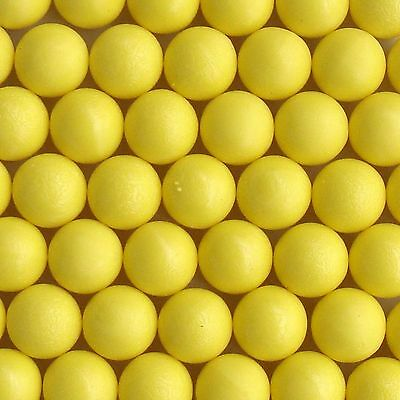 100 New .68 cal Reusable Rubber Training Balls Paintballs Yellow Color