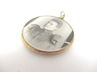 Vintage 9Ct Gold Open Face Locket, Double Sided