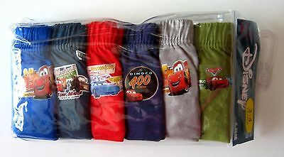 BNIP Disney Pixar Cars boys kids Undies Briefs jocks 6 pack cotton underwear