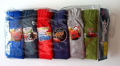 New BNIP Disney Pixar Cars boys kids Undies Briefs jocks 6 pack cotton underwear