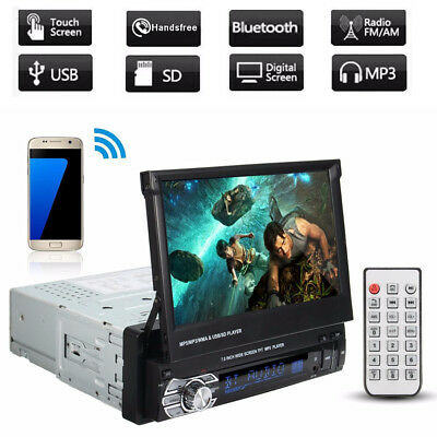 "Single 1 Din 7"" Inch Car MP5 Player Touch Screen In Dash Stereo Radio HD BT FM"