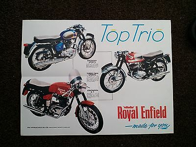 Royal Enfield Motorcycle Sales Brochure 1966 New Old Stock Good Condition