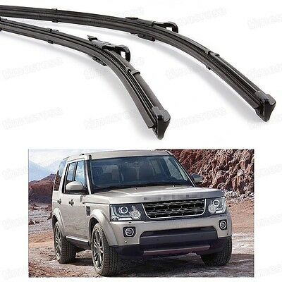 2Pcs Car Front Windshield Wiper Blade Bracketless Fit for Land Rover Discovery 4