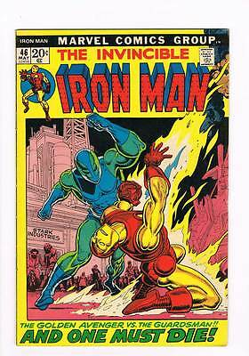Iron Man # 46  And One Must Die ! grade 6.5 scarce book!!