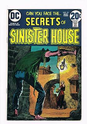 Secrets of Sinister House # 10  Neal Adams art  grade 7.5 scarce book !!