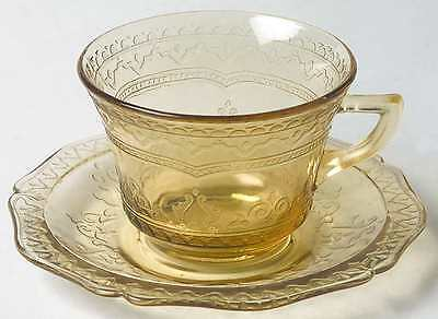 Federal Glass Company PATRICIAN AMBER Cup & Saucer 124543