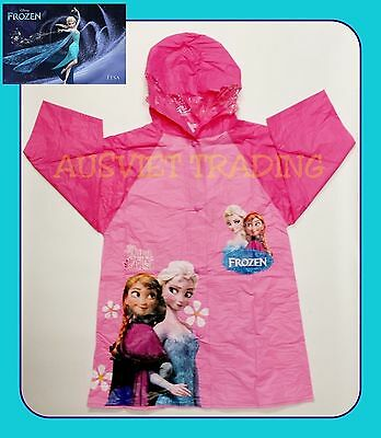 Brand new Disney Frozen Elsa Anna Raincoat new release girls rain coat
