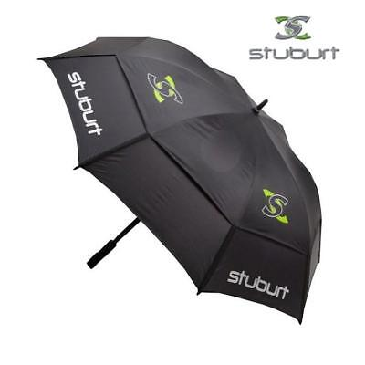 "Stuburt Golf Umbrella 66"" Double Canopy, Fibreglass, Black Golf Brolly Windproof"