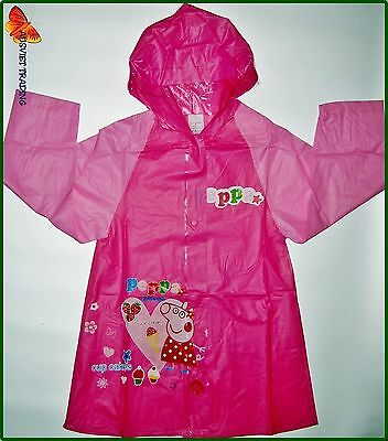 Brand new Peppa Pig Raincoat new release girls rain coat