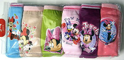 BNIP undies Minnie Mouse knickers 6 pack Briefs brand new panties