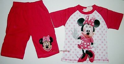BNWT Minnie Mouse top t-shirt Pyjamas tshirt 3/4 pants cotton sleepwear pajamas