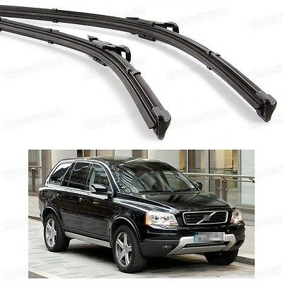 2Pcs Car Front Windshield Wiper Blade Bracketless Fit for Volvo XC90 2005-2014