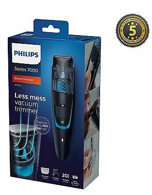 Philips Beard Trimmer Series 7000 Vacuum Hair Trimmer Cordless BT7202/13 *New*