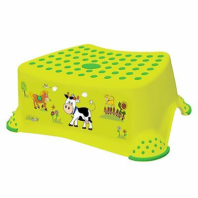 Keeeper Funny Farm Tritthocker mit Anti-rutsch-Funktion green meadow NEU