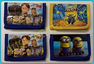 Brandnew Despicable Me Minions boys Wallet tri-fold coin purse