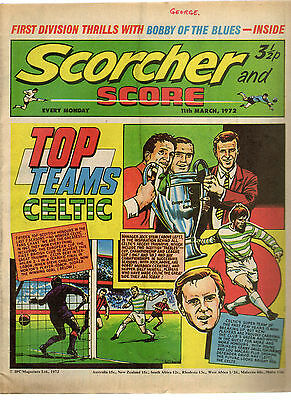 Scorcher and Score Comic 11th March 1972 Top Teams: Celtic