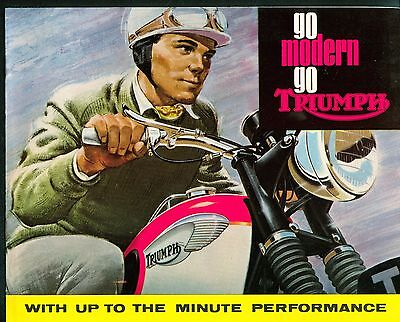 1965 Triumph Brochure Tiger Bonneville Cub 5TA 3TA 1965 Original New Old Stock