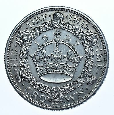 Scarce 1927 Proof Wreath Crown British Silver Coin George V [Only 15,030 Struck]