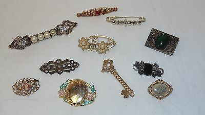 Lot of 11 Vintage Small Brooches Cameo/Locket