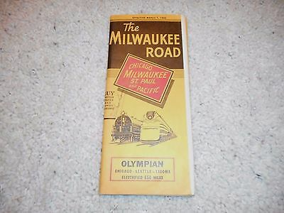 CM&StPRY MILWAUKEE ROAD MARCH 7, 1943 SYSTEM PUBLIC TIMETABLE