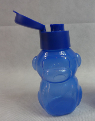 Tupperware ECO Water Sports Bottle 12 Oz for Kids - Max Monkey Blue New