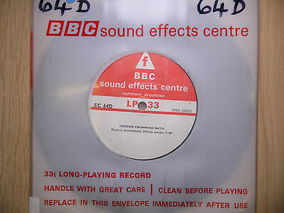 "BBC Sound Effects 7"" Record - Indoor Swimming Bath, EC64D"