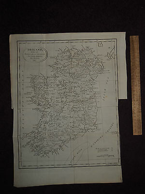 1802 IRELAND DIVIDED INTO PROVINCES & COUNTIES by J RUSSELL DUBLIN BELFAST KERRY