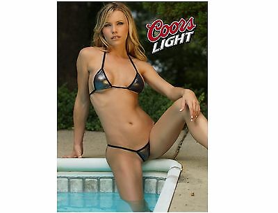 Coors Light Beer Pool Girl Refrigerator / Tool Box Magnet