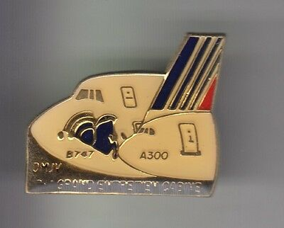 Rare Pins Pin's .. Avion Plane Airlines Air France B747 A300 Entretien  ~C3