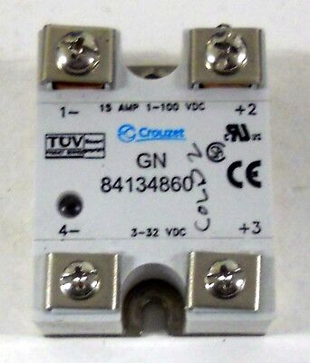 Crouzet Gn-84134860 15Amp 1-100Vdc Solid-State Relay Assembly