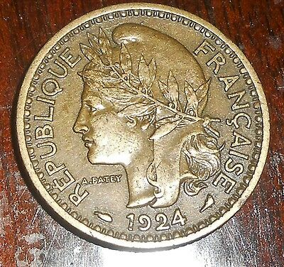 Nice Togo 1924 1 France High Grade Coin French/france