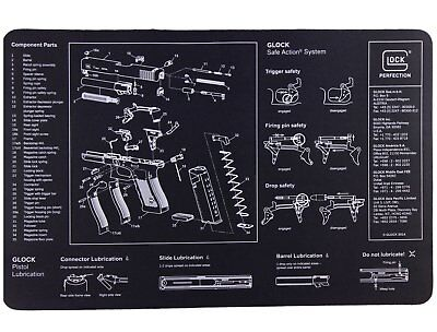 Glock AD00073 Gunsmithing OEM Bench Mat Black Neoprene