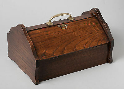 Antique Edwardian Oak Butlers Portable Cutlery Canteen/Tray with Contents