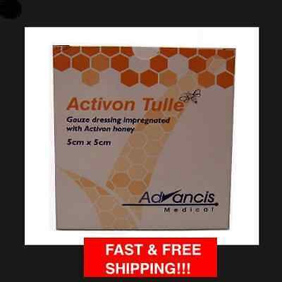Activon Tulle Gauze Dressing Impregnated With Honey 5 In a Box - Size 5cm x 5cm