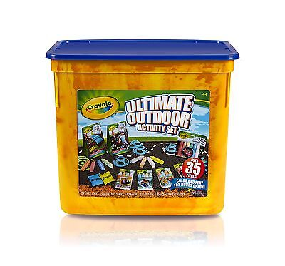 Crayola Ultimate Outdoor Activity Set Bean Bag Toss and Obstacle Course g... New