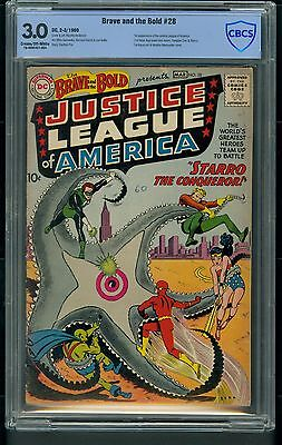 Brave and the Bold #28 (1960) CBCS Graded 3.0 ~ 1st App Justice League ~ Not CGC