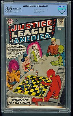 Justice League of America #1 (1960) CBCS Graded 3.5 ~ 1st Solo JLA ~ Not CGC