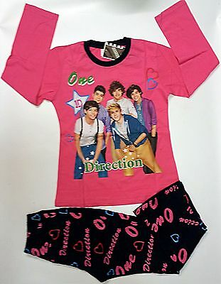 One Direction 1D tshirt top Pyjamas cotton size age 12 sleepwear pajamas t-shirt