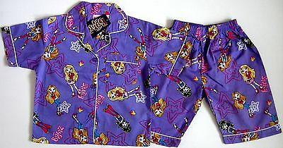 BNWT Bratz girls top shirt shorts Pyjamas 100% cotton new sleepwear pajamas