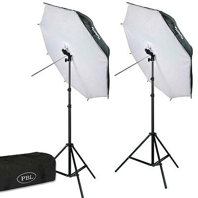 LED 42in Umbrella Softbox Light Kit 700 Watts  Photography Studio Video