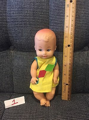 """Vintage Rubber Baby Doll Playmates Doll Drink And Wet 6"""" GUC"""