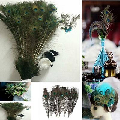 100pcs lots Real Natural Peacock Tail Eyes Feathers 9-12 Inches / about 23-30cm
