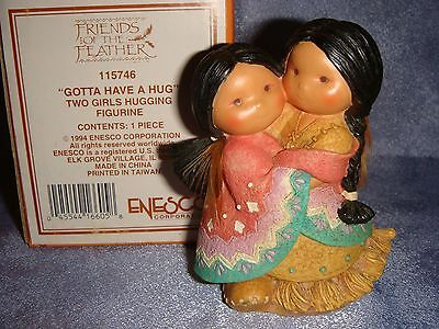Friends of the Feather - 115746 -MIB- GOTTA HAVE A HUG - Two Girls Hugging