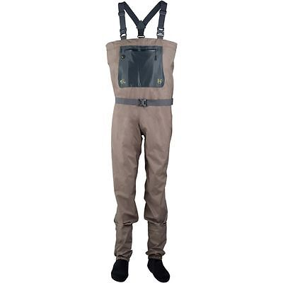 Size Medium New Hodgman H3 Stockingfoot Breathable 3 Layer Fishing Waders +Belt