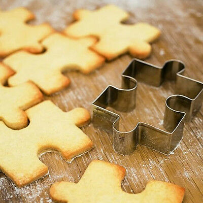 Hot Puzzle Shape Fondant Cookie Mold Cutter Cake Decorating Tool Stainless Steel