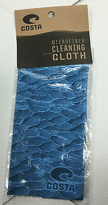 New Costa Del Mar Costa Microfiber Cleaning Cloth 7Wx4H Blue OP01