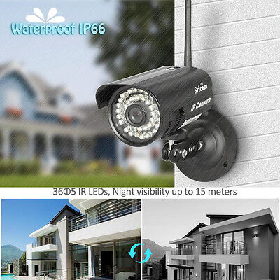 720P HD Outdoor Wireless Wifi Security Webcam IR IP P2P Camera Android System US