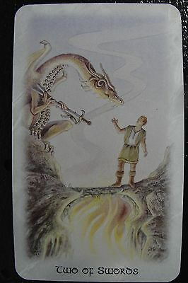 Two of Swords The Celtic Dragon Tarot Single Replacement Card Excellent