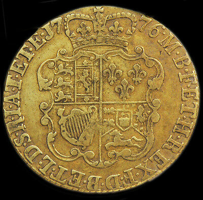 KING GEORGE III 1776 FULL GOLD GUINEA..declared their independence from Britain